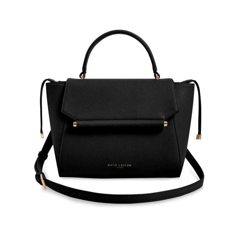 Ava Top Handle Bag | Black