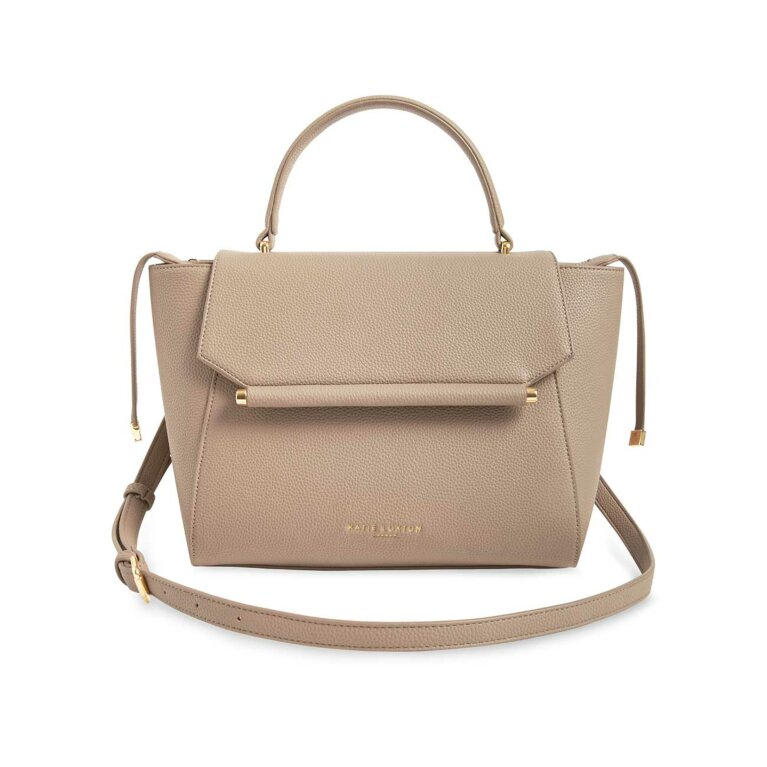 Ava Top Handle Bag | Taupe