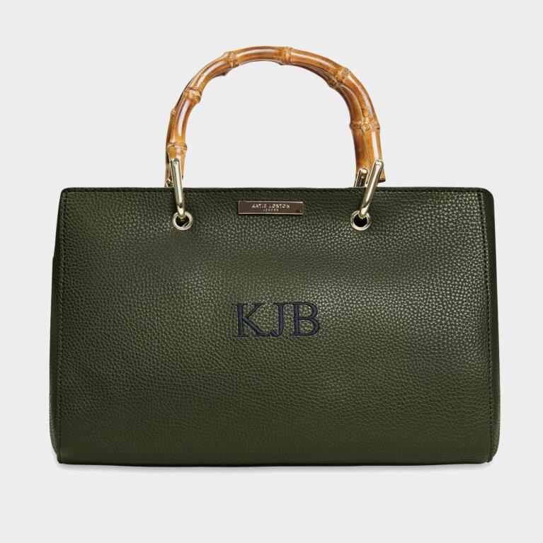 Avery Bamboo Bag In Khaki