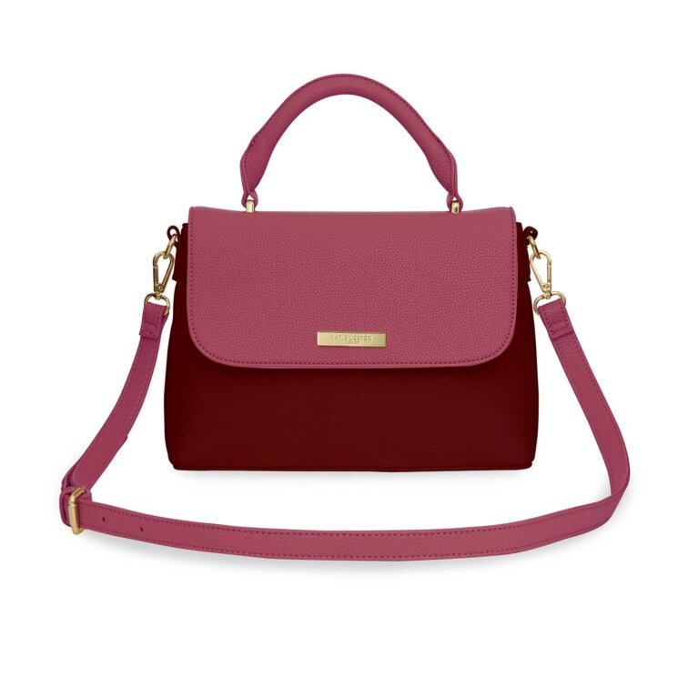 Talia Two Tone Messenger Bag | Light Burgundy and Dark Burgundy