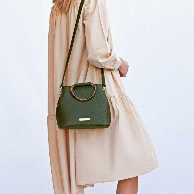 Tori Tortoiseshell Bag | Khaki