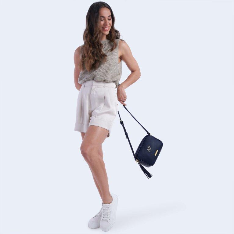 Sophia Tassel Crossbody Bag In Navy