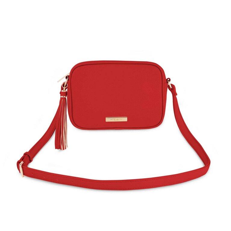 Sophia Tassel Crossbody Bag | Red