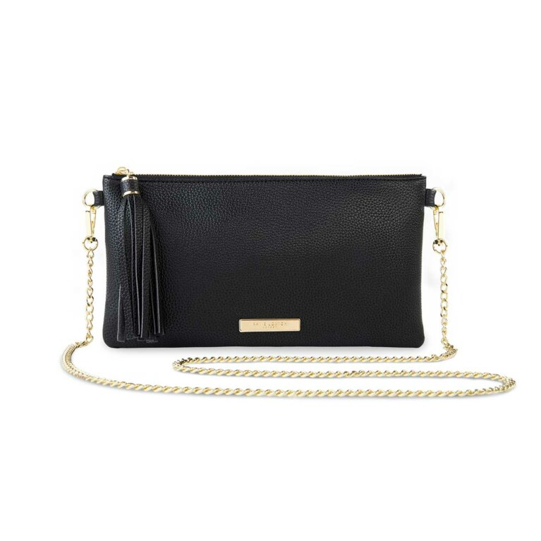Freya Tassel Crossbody | Black