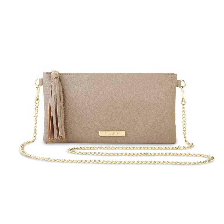 Freya Tassel Crossbody Bag | Taupe