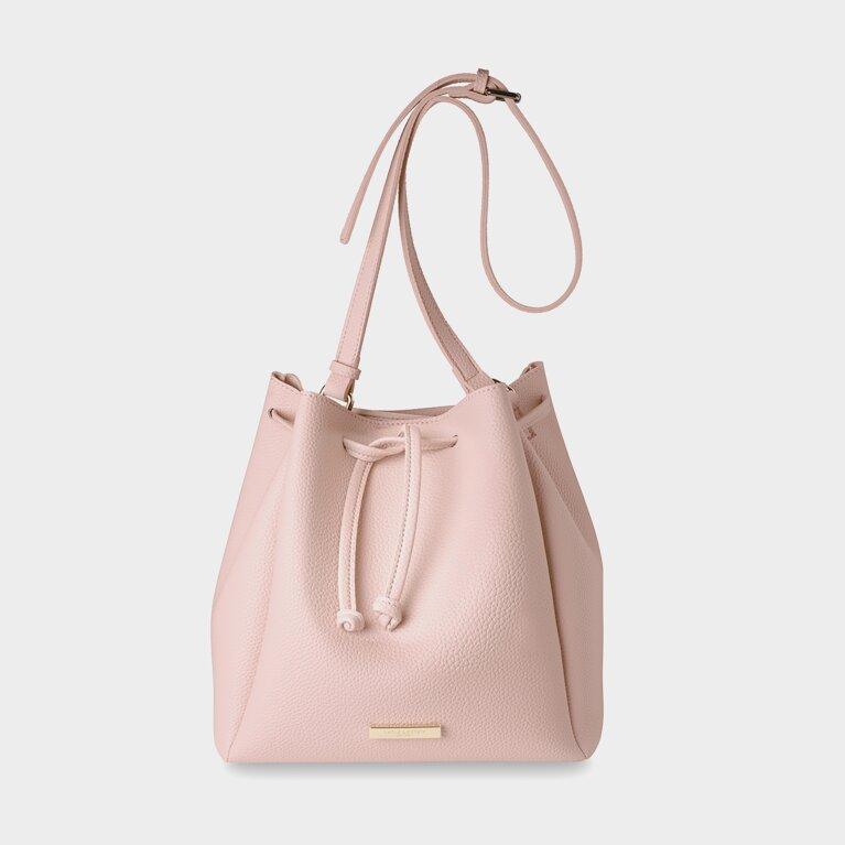 Handbag | Chloe Bucket Bag | Blush Pink