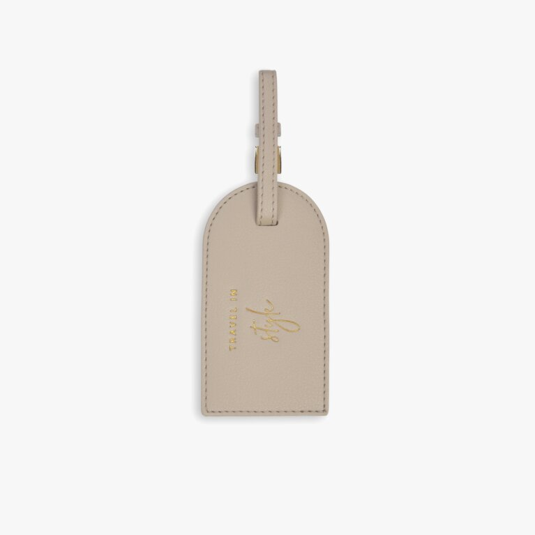 Luggage Tag | Travel In Style | Taupe