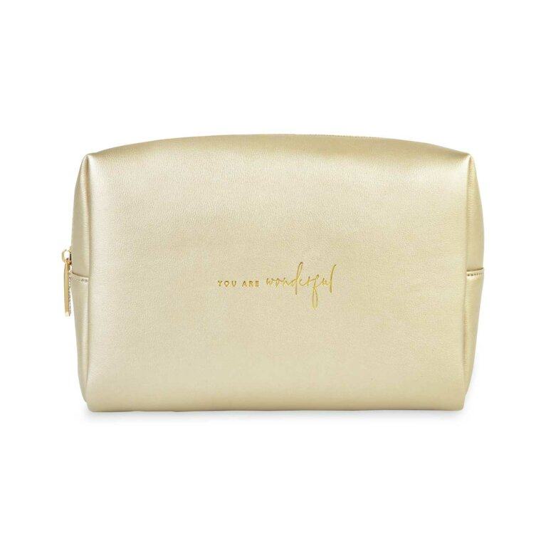Colour Pop Wash Bag | You Are Wonderful | Gold