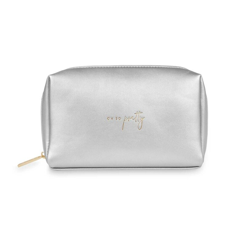 Colour Pop Make Up Bag | Oh So Pretty | Silver
