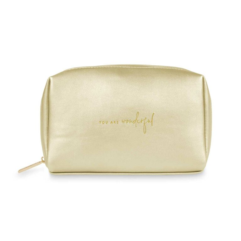 Colour Pop Make Up Bag | You Are Wonderful | Gold
