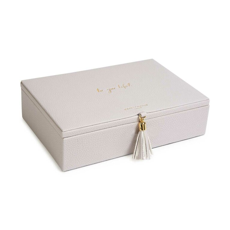 Tassel Jewellery Box | Be-You-Tiful | Grey