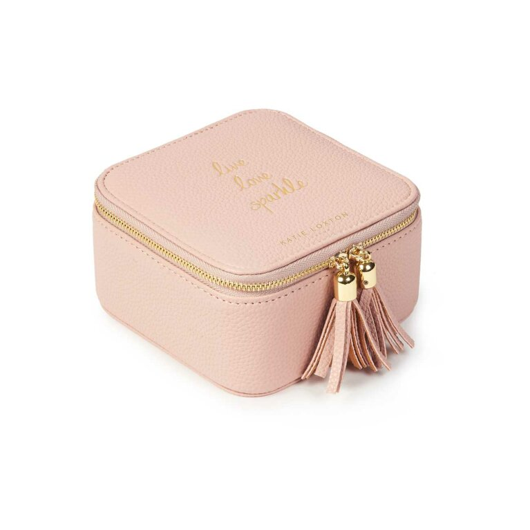 Tassel Square Jewellery Box | Live Love Sparkle | Pink