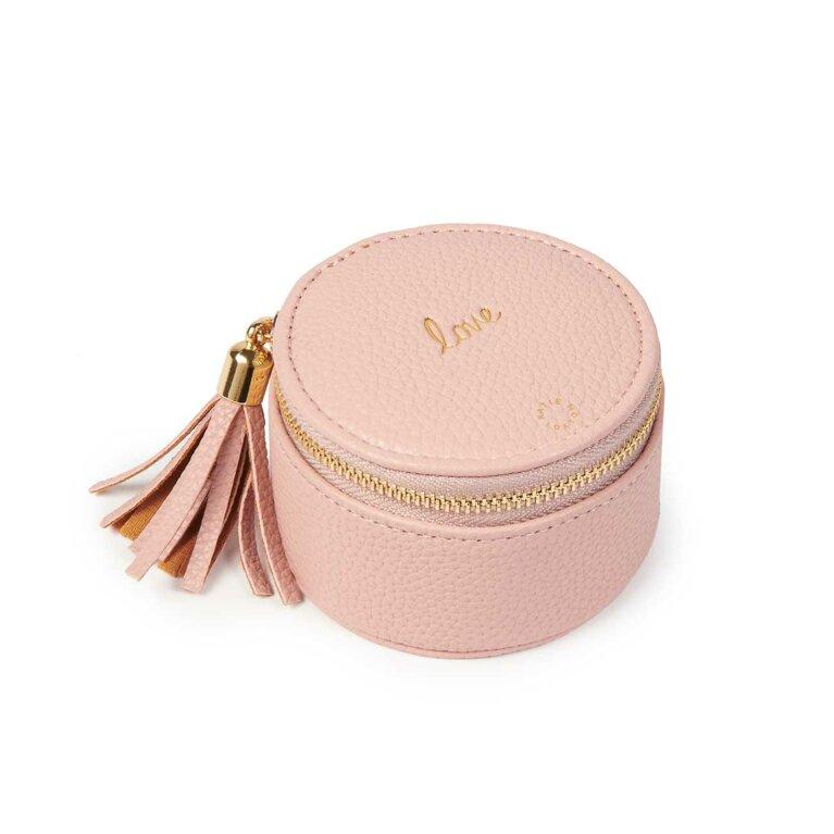 Tassel Small Circle Jewellery Box | Love | Pink