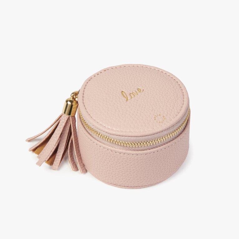 Tassel Small Circle Jewellery Box Love In  Pink