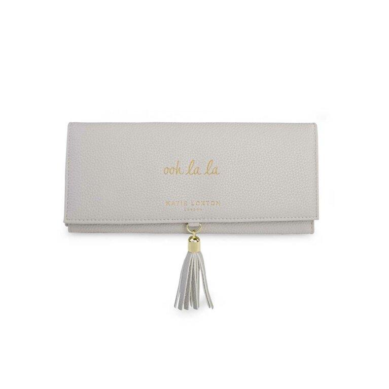 Tassel Jewellery Roll   Ooh La La   Grey