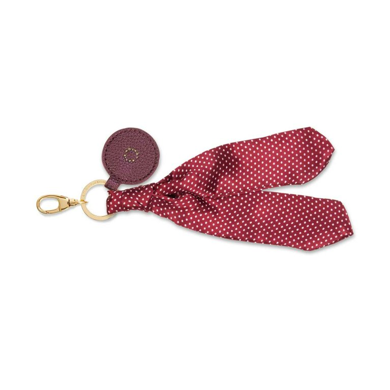 Carrie Scarf Keyring Bag Charm | Red/White