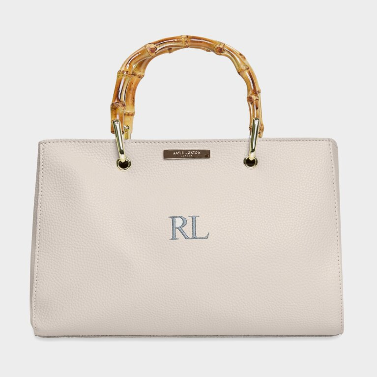 Avery Bamboo Bag In Off White