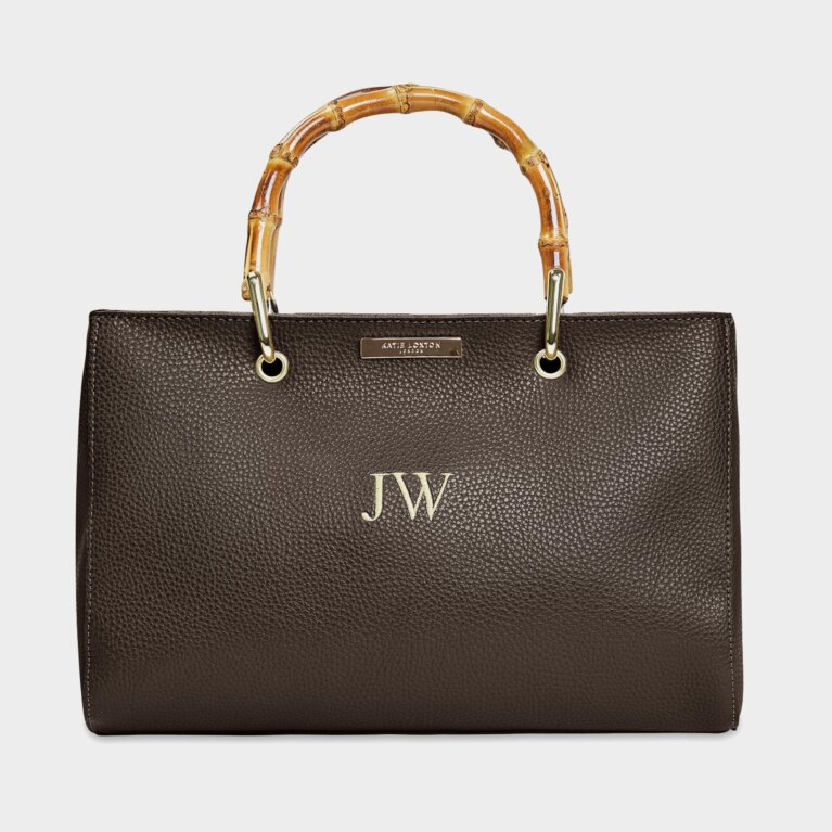Avery Bamboo Bag In Brown