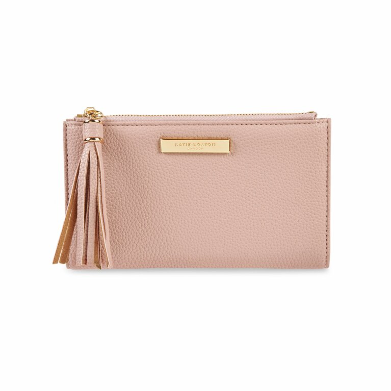 Sophia Tassel Fold Out Purse | Pale Pink