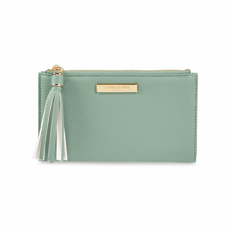 Sophia Tassel Fold Out Purse | Mint Green