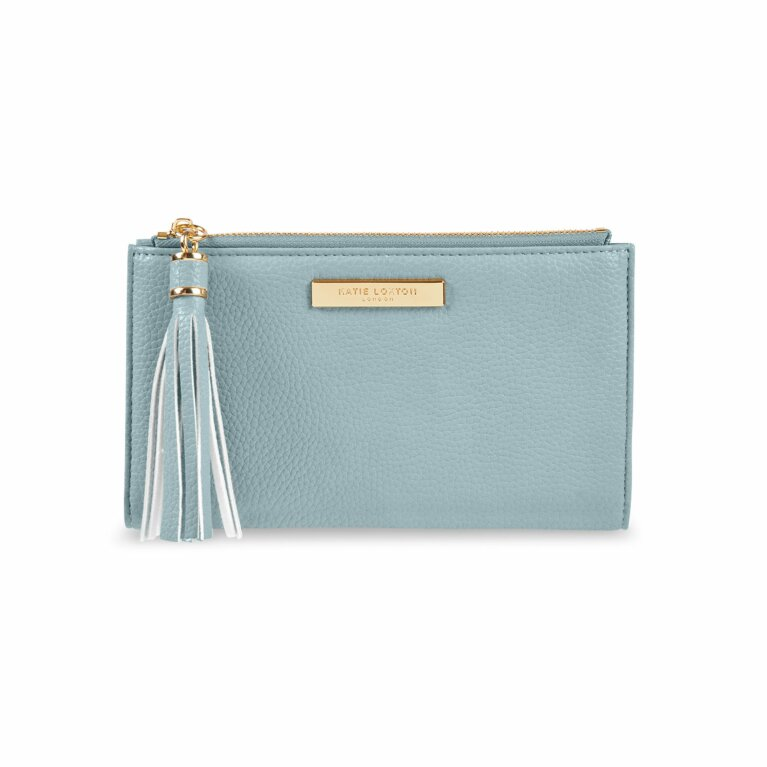 Sophia Tassel Fold Out Purse | Pale Blue