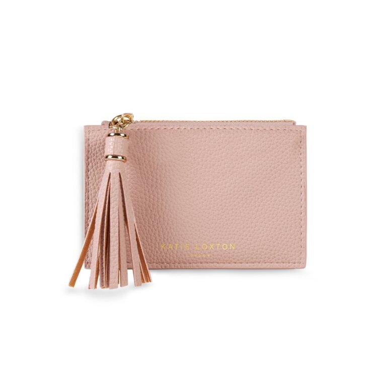 Sophia Tassel Coin/Card Purse In Pale Pink