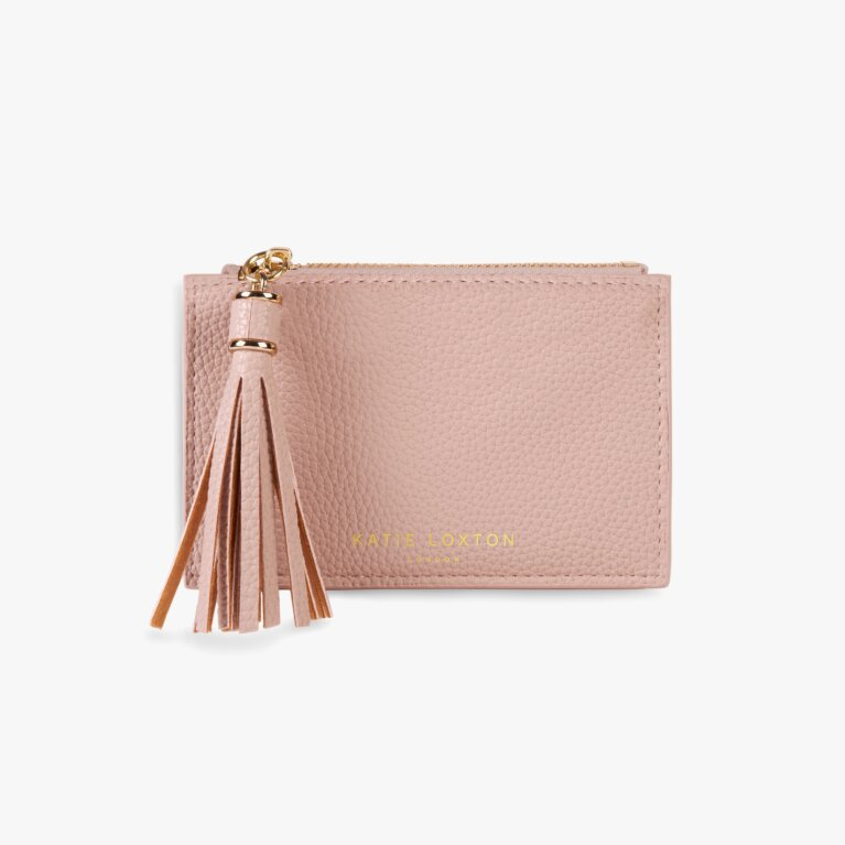 Sophia Tassel Coin/Card Purse | Pale Pink