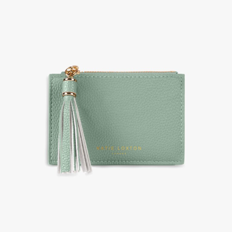 Sophia Tassel Coin/Card Purse | Mint Green