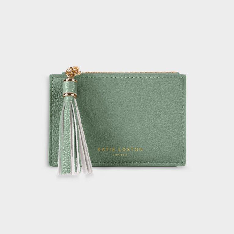 Sophia Tassel Coin/Card Purse In Mint Green