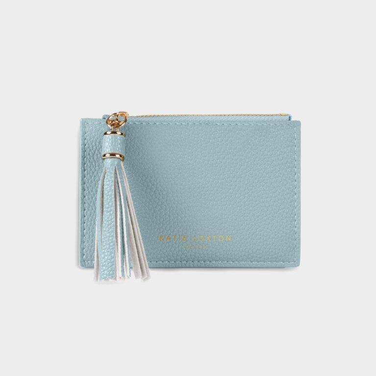 Sophia Tassel Coin/Card Purse In Pale Blue