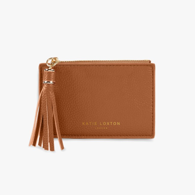 Sophia Tassel Coin/Card Purse | Cognac