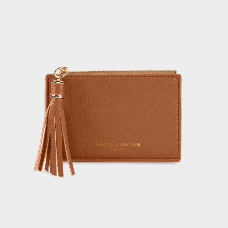 Sophia Tassel Coin/Card Purse In Cognac