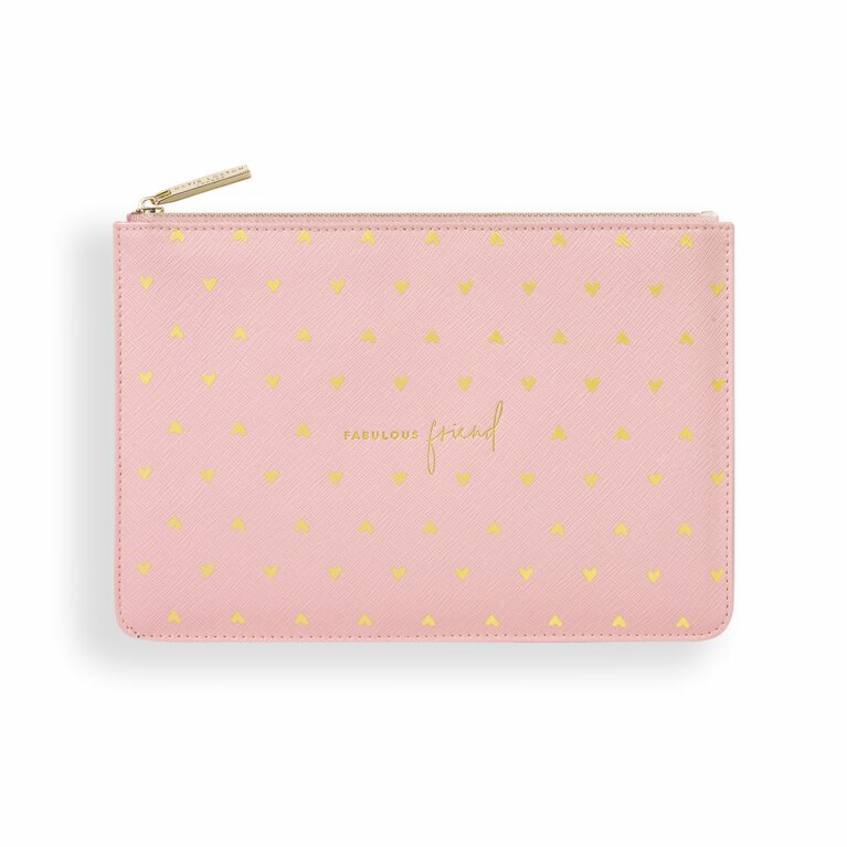 Gold Print Perfect Pouch | Fabulous Friend | Pink