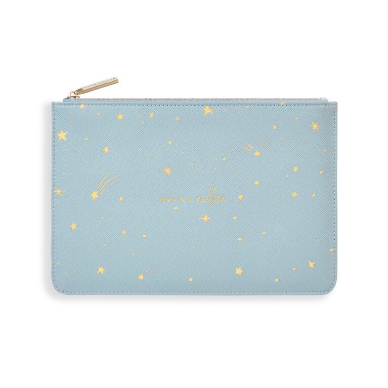 Gold Print Perfect Pouch One In A Million In Blue