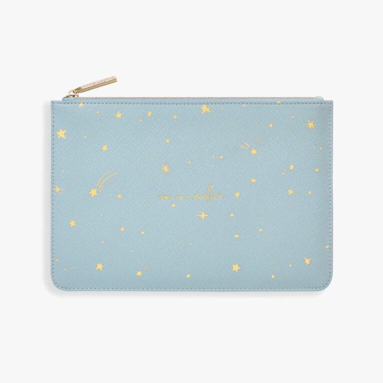 Gold Print Perfect Pouch | One In A Million | Blue