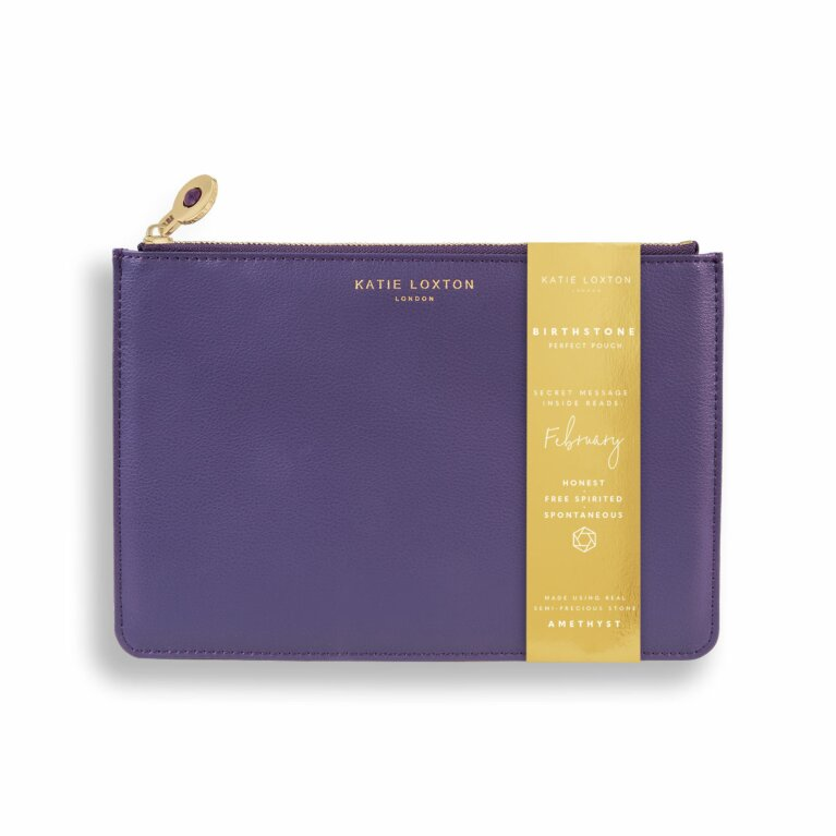 Birthstone Perfect Pouch | February Amethyst | Purple