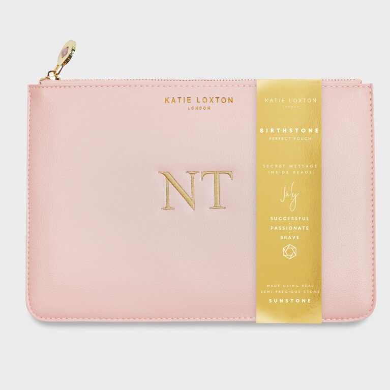 Birthstone Perfect Pouch July Sunstone In Blush Pink