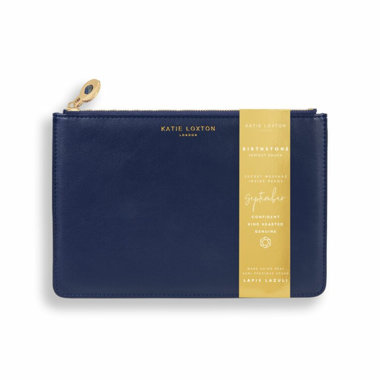 Birthstone Perfect Pouch | September Lapis Lazuli | Navy