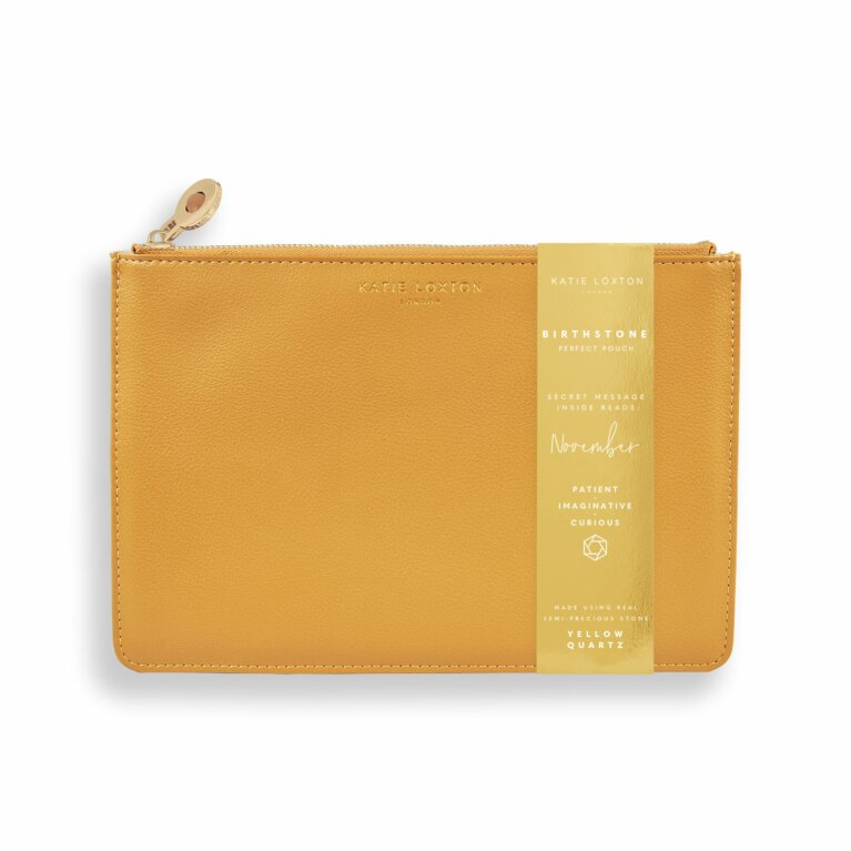 Birthstone Perfect Pouch | November Yellow Quartz | Ochre