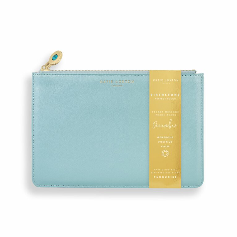 Birthstone Perfect Pouch | December Turquoise | Duck Egg Blue