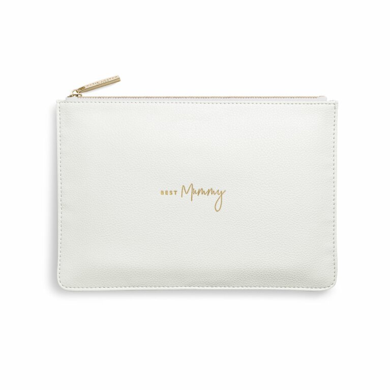 Perfect Pouch | Best Mummy | White