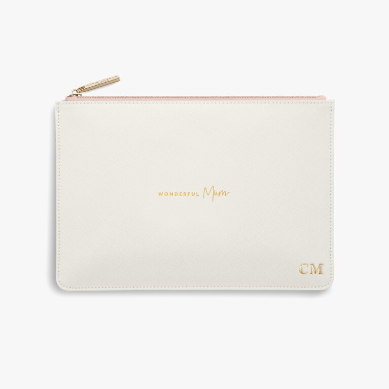 Colour Pop Perfect Pouch | Wonderful Mum | Off White and Pink
