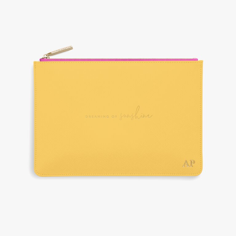 Colour Pop Perfect Pouch | Dreaming Of Sunshine | Ochre and Fuchsia