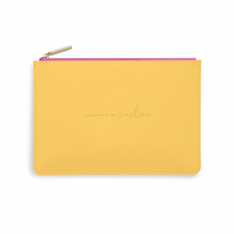 Color Pop Perfect Pouch | Dreaming Of Sunshine | Ochre and Fuchsia