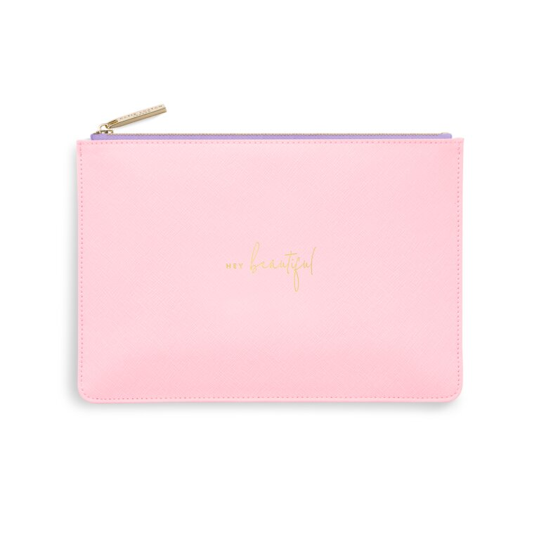Color Pop Perfect Pouch Hey Beautiful In Pink And Lilac