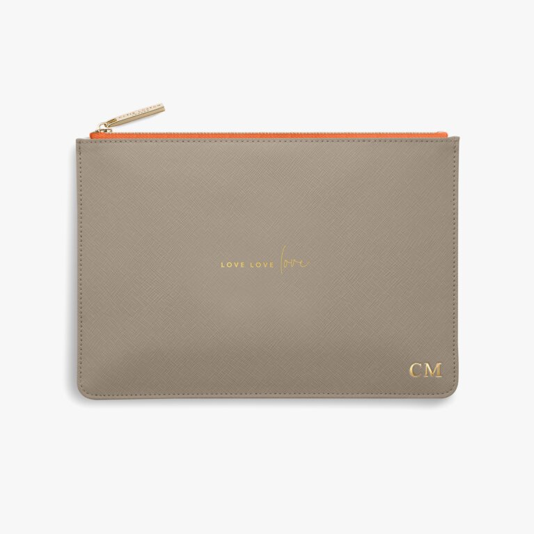 Colour Pop Perfect Pouch | Love Love Love | Taupe and Orange