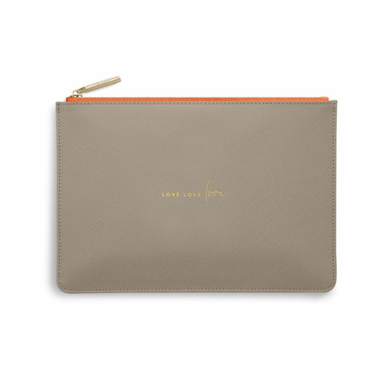 Color Pop Perfect Pouch | Love Love Love | Taupe and Orange