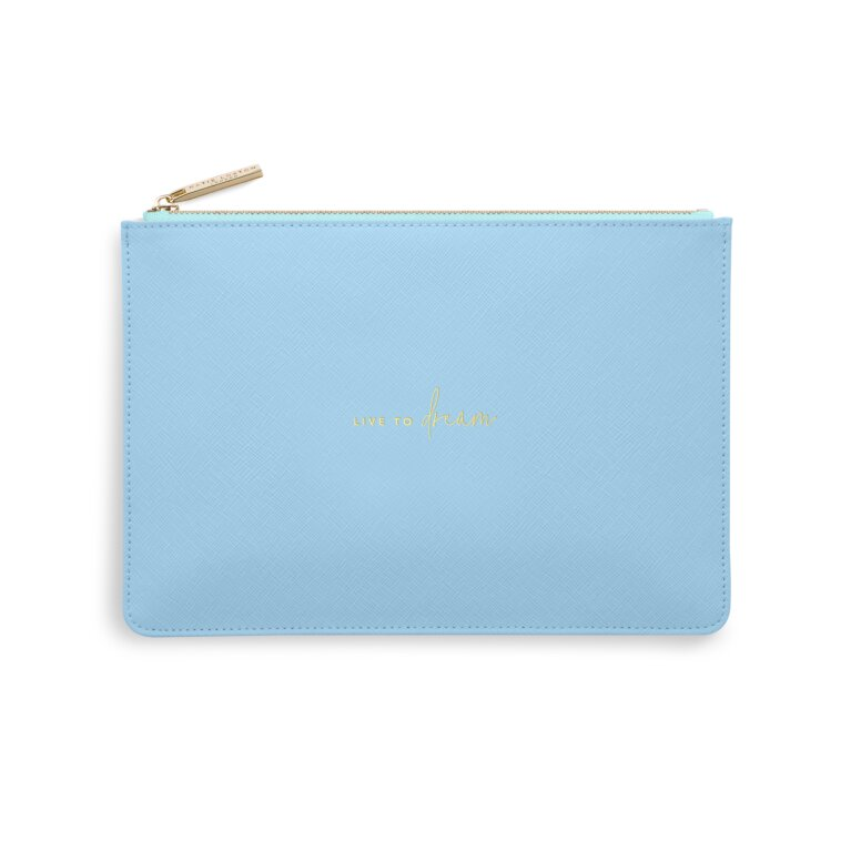Color Pop Perfect Pouch Live To Dream In Blue And Pale Blue