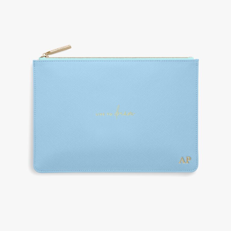 Colour Pop Perfect Pouch Live To Dream In Blue And Pale Blue