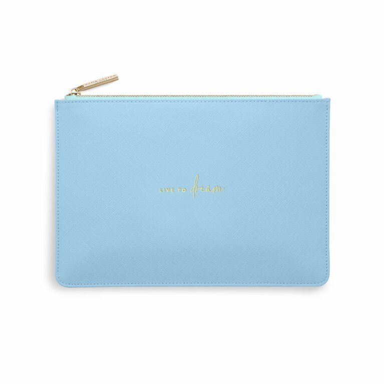 Color Pop Perfect Pouch | Live To Dream | Blue and Pale Blue